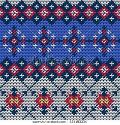 Illustration of Ugly sweater seamless Pattern for Design, Website, Background, Banner. Merry christmas Knitted Retro cloth with Snowflake Element Template