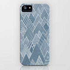 Mountain Pattern iPhone Case by Anita Ivancenko - $35.00