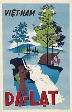 Vietnam Dalat vintage poster