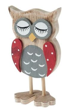 Chouette en bois, A poser, peinte et ...,
