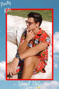 Groovy Party Kits - Mens Hawaiian Shirt and Matching Shorts. Be the life of the party, even better matching with your mates. Cricket, Bucks party, cruise, fancy dress and more  #cabana #matchymatchy #partykit #partytuxedo #parrotheads #magnumshirts #parrotshirts #hawaiianshirts #partyshirts #hawaiianshirtsandshorts