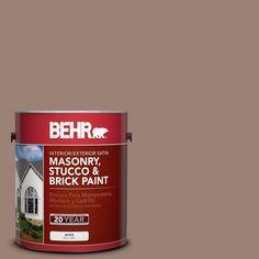 BEHR 1 gal. #N150-4 Modern Mocha Satin Interior/Exterior Masonry, Stucco and Brick Paint