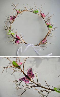 Linda coroa de flores!