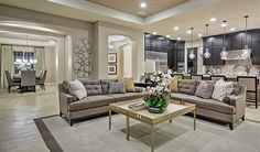 This open living space in Las Vegas, NV, was designed to reflect comfort and style   Hanford plan by Richmond American