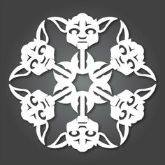 Yoda Star Wars Snowflake Template (31 others here)