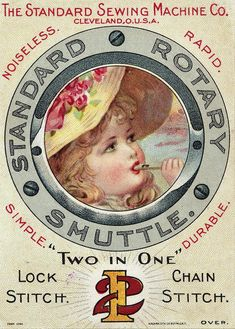 Рекламные карточки швейных машин XIX века.