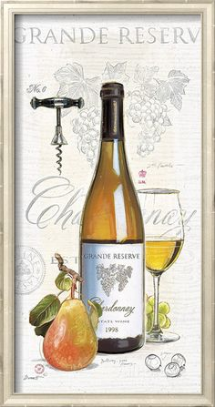 Chardonnay with Pear Chad Barrett, Wine Painting, Wine Photography, Decoupage Vintage, Wine Art, In Vino Veritas, Wine Time, Wine And Beer, Food Illustrations