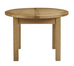 Bordeaux Round Extending Butterfly Dining Table (shown here unextended)