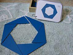 Free cards Blue Triangles Montessori Montessori Homeschool, Montessori Elementary, Montessori Classroom, Montessori Toddler, Montessori Activities, Stem Activities, Classroom Activities, Activities For Kids, Tangram