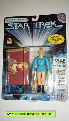 Star Trek NURSE CHRISTINE CHAPEL playmates toys action figures moc mip mib