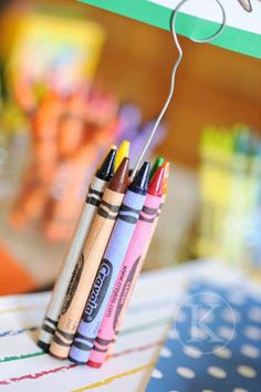 Crayon place holders.