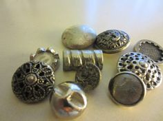 Vintage Buttons  Lot of 10  Filigree  assorted by pillowtalkswf, $6.00