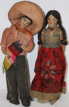 old Mexican dolls - I love these and have a big collection myself…