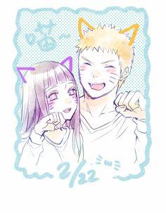 ✨Naruto & Hinata Nekos✨ By: Ting https://twitter.com/Ting1201_/status/834422923142131712