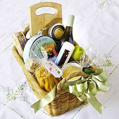 The Ultimate Gift Basket Guide  | Cheese Head Basket | MyRecipes.com....xmas gifts next year
