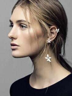 #earrings #flowers #jewels