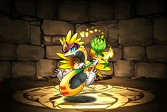 Puchianthus - Puzzle & Dragons Wiki - Wikia Puzzles And Dragons, Character Illustration, Sleeping Beauty, Disney Characters, Fictional Characters, Illustrations, Rpg, Briar Rose, Illustration