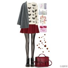 Red wine skirt seems become very popular these years;