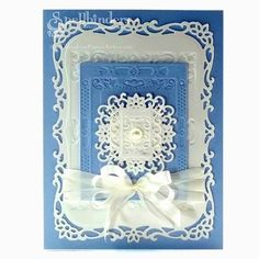 Filigree Card using @Spellbinders Gold Rectangles One with Decorative Labels Eight by nadine