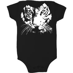 """We've got the unique baby onesies and baby gifts you've been looking for. Lil Poopie Nation has baby onesies that will make your friends and family say """"awww."""" This 100% American made cotton onesie features a Ttger. Dress your sweet lil baby in style and show your support for endangered animals with baby onesies."""