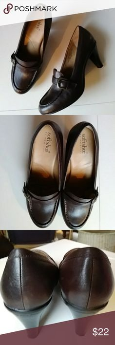 NWOT..heeled loafers SOFTSHOE BY MEDICUS Slip-on loafer by Medicus. Softshoe comfort with high heel to dress it up.  Brown leather upper. Never worn, Excellent condition. Size 8 Medicus Shoes Flats & Loafers