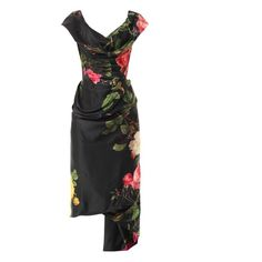 VIVIENNE WESTWOOD GOLD LABEL Mini Cocotte floral-print satin dress found on Polyvore