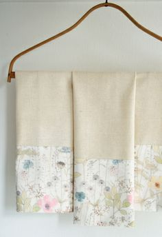 Liberty Tea Towels - a simple #sewing pattern to dress up plain tea towels. #easypeasy #DIY