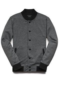 marled bomber jacket