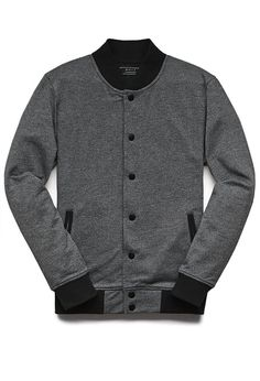 Marled Bomber Jacket #menfitness #mensfitness #mensports #sweatshirts #hoodies #fitmen