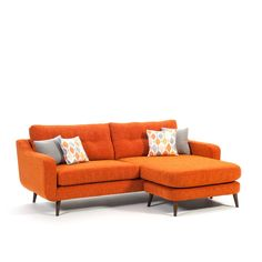 Simple yet sophisticated, the contemporary design of the Cortland living range pairs ample proportions and angled legs for an effortlessly inviting collection. Sofas, Couches, Corner Sofa, Retro Design, Contemporary Design, Color Pop, Upholstery, Colours, Simple