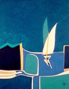 September Sound, 1997. By Françoise Gilot (France, born 1921). Oil on canvas.