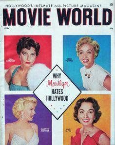 Movie world (usa) 1956  Ava Gardner, Jane Powell, Marilyn Monroe and Ann Blyth