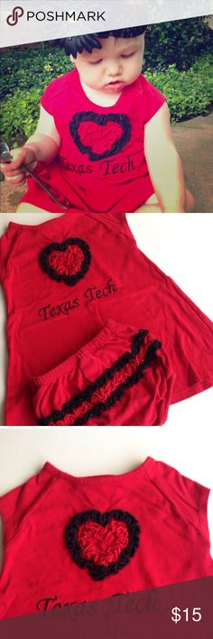 Texas Tech dress are you ready for some football?! adorable Texas Tech dress and bloomers set Dresses