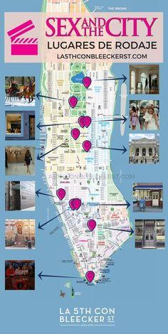 [DESCÁRGATE MAPA Y RUTA] De Sexo en Nueva York, lugares de rodaje. #NuevaYork #NYC #Manhattan #NuevaYorkTurismo