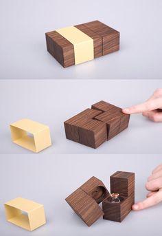 Creative wedding ring packaging...