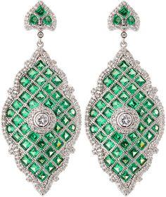 Deco Princess Moroccan Drop Earrings - Kenneth Jay Lane