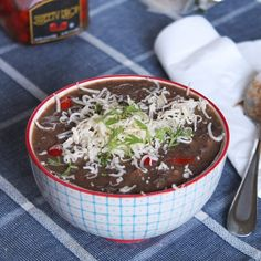 Black Bean & Chorizo Soup with Sweety Drops