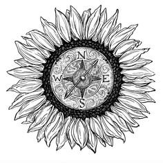 New in-progress piece Is it a print Maybe A sticker Also possible I cut it out and wear it as a hat Most likely sunflower sunflowers instaink sketchygram ink drawing illustration compass drphmartins drawstuff # Tattoo Drawings, Body Art Tattoos, New Tattoos, Small Tattoos, Sleeve Tattoos, Cool Tattoos, Tatoos, Rosary Tattoos, Bracelet Tattoos