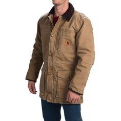 Carhartt Canyon Sandstone Duck Coat (For Men) in Frontier Brown