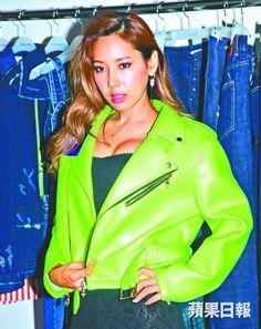 Korean Model EJ : Green Rider Jacket  | Fall & Winter | Dolly & Molly | www.dollymolly.com |  #green #rider #jumpsuit #skydive #dollymolly #korea #fashion #celebrities