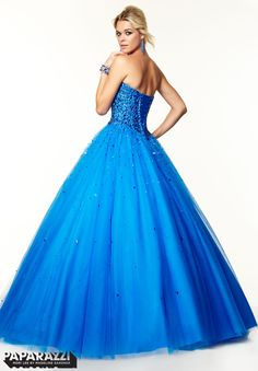Prom Dresses / Gowns Style 97042: Beaded Tulle Ballgown http://www.morilee.com/prom/paparazzi/97042