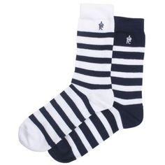 Men's Socks - Classic 2 Pack Alfie Stripe Socks by French Connection #mens #socks