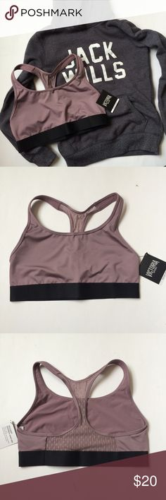 🆕(M) VS Sports Bra NWT Victoria's Secret Sport The Player Mesh Racerback Sports Bra in Mauve Rose, size medium.  Provides medium support for sports and activities, lightweight and breathable material so you won't feel trapped.  Black band at bottom; color is a subtle pink that provides a mellow pop of color to any outfit. Mesh back.  Bundle and save! Victoria's Secret Intimates & Sleepwear Bras