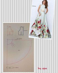 11 Me gusta, 7 comentarios - Album inspirasi baju dan pola a href='/tag/pecahpola' a href='/tag/polabaju' a href='/tag/poladress' a href='/tag/dresspattern' a href='/tag/fashionpattern' a href='/tag/pattern' a href='/tag/pomobaki' 27 likes 7 comments I li Diy Clothing, Sewing Clothes, Dress Sewing Patterns, Clothing Patterns, Fashion Sewing, Diy Fashion, Circle Skirt Pattern, Costura Fashion, Diy Dress