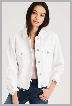 fb735eb5df Lets Save Some Money Today $$ AE White Denim Jacket, White | American Eagle  Outfitters - Price History #ApparelWomensJackets #Denim #Jacket