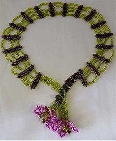 Flower Web Necklace Pattern | Bead-Patterns