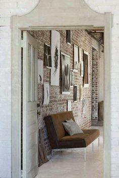 brick wall Entry Hallway idea -- wall, that is