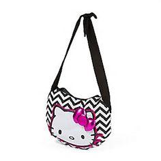 Hello Kitty Chevron Crossbody Bag