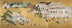 Hishikawa Moronobu, Scenes from the Nakamura Kabuki Theatre