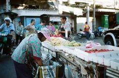 Bustling Chinatown vegetable market in Bangkok, Thailand Bangkok Thailand, Film Photography, Bird, Birds, Cinematic Photography